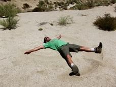Summer Sand Angels in the Anza Borrego Desert