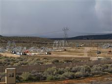 Sunrise Powerlink Construction (Staging) area in Jacumba